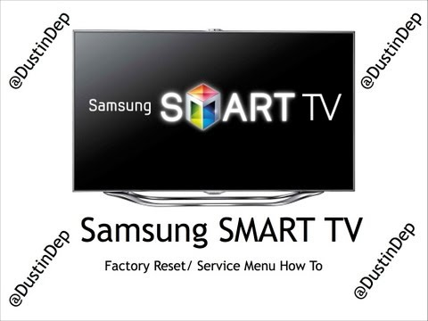 Samsung Smart TV Service Menu / Factory Reset How To LED 8 Series