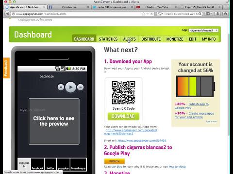 Como crear una aplicacion android gratis para una radio on line