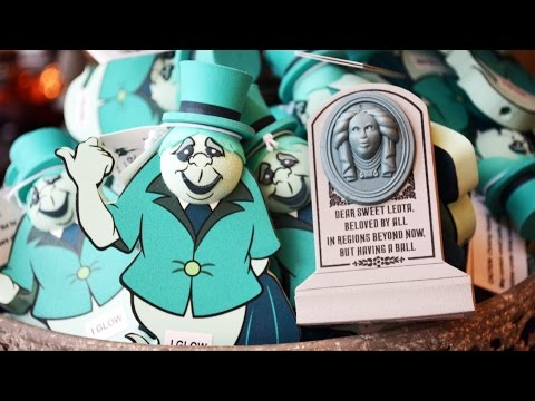 Halloween Merchandise Preview 2014 at Magic Kingdom & Epcot, Walt Disney World, Incl Haunted Mansion