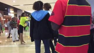 Girl Fights with Security at Vision City