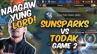 NAAGAW YUNG LORD! SUNSPARKS VS TODAK - GAME 2