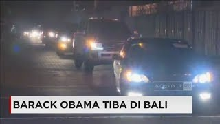 Tiba di Bali, Iring-Iringan Mobil Obama Tinggalkan Bandara I Gusti Ngurah Rai