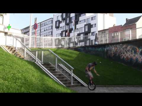 Tim Desmet  2012 - EXTREME UNICYCLE TRICKS