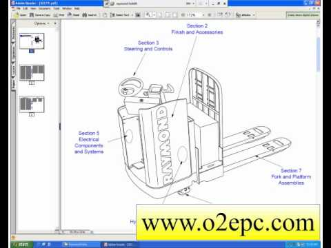 raymond forklift truck parts manuals