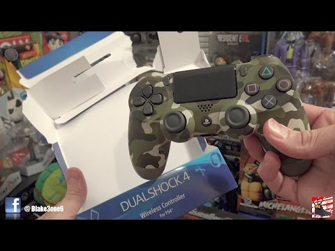 PS4 Green Camouflage Controller Unboxing & Review