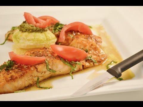 Glazed Salmon Recipe with Puff Pastry and Pesto Recipe  | RadaCutlery.com