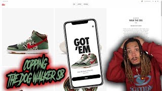 """TRYING TO COP THE NIKE SB DUNK WALK THE DOG """"DOG WALKER"""" LIVE !!!"""