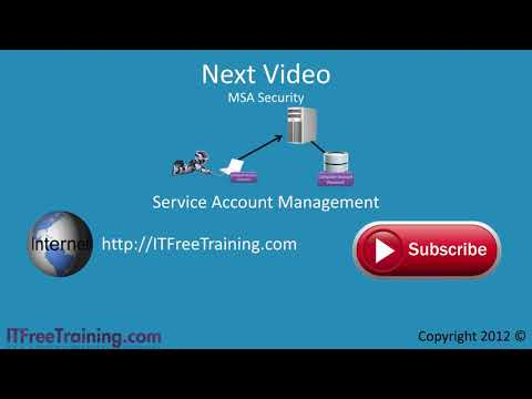 MCITP 70-640: Service Accounts