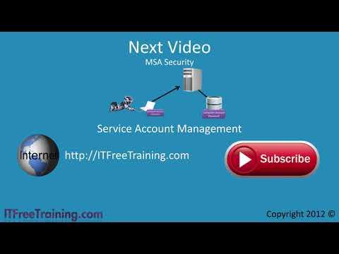 MCITP 70-640: Service Accounts