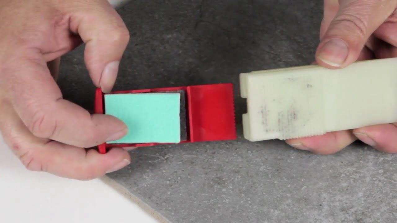 Repair chip in ceramic tile