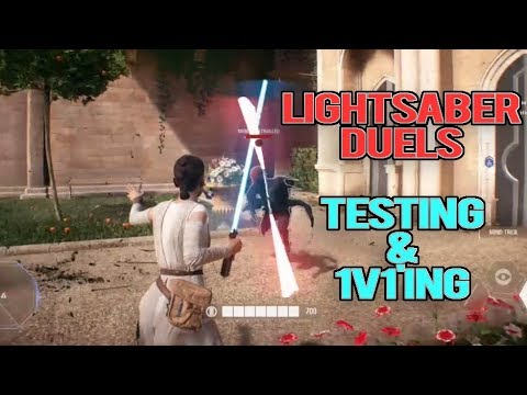STAR WARS BATTLEFRONT 2: LIGHTSABER DUELS - HOW DO THEY WORK? (Testing & 1v1's)