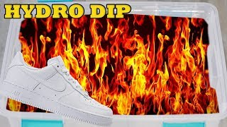 HYDRO Dipping AIR Force 1's In FIRE!!