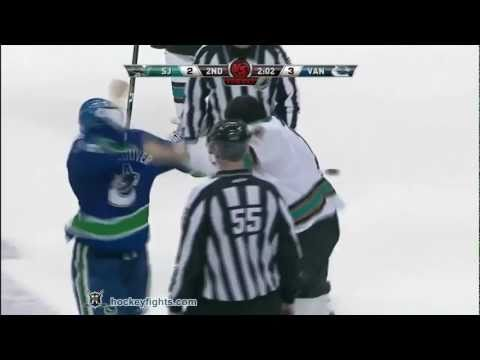 Patrick Marleau Vs Kevin Bieksa May 18, 2011 (video)