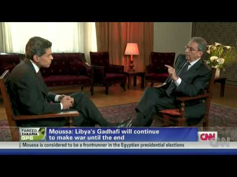 Amr Moussa interviwe with CNN
