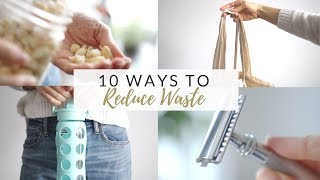 10 WAYS TO REDUCE WASTE + money saving tips | zero/low waste for beginners