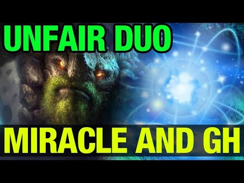 UNFAIR DUO IN A PUB !! - MIRACLE- AND GH-GOD WOMBO COMBO - Dota 2