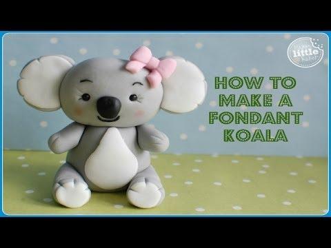 Koala Bear Cupcakes Fondant Koala Bear Tutorial