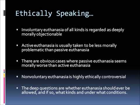 essay on euthanasia pros and cons Pro-euthanasia essays should a person who is terminally ill, who feels that their life is not worth living due to intolerable pain and/or loss of dignity and/or loss.