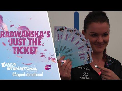 Radwanska's just the ticket for Eastbourne