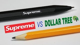 $80 SUPREME PENCIL vs $0 DOLLAR STORE PENCIL: Which is Worth the Money?
