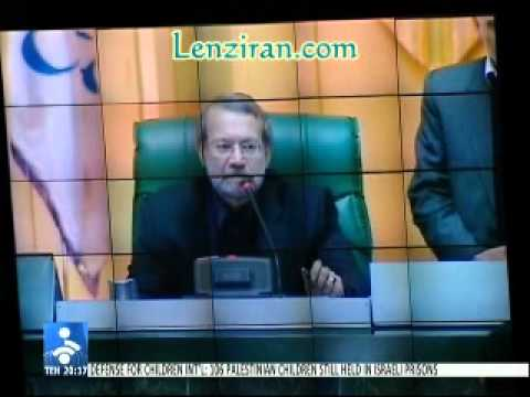 Ali Larijani get angry with Mp Abaspoor  and shout on him : Sit down !