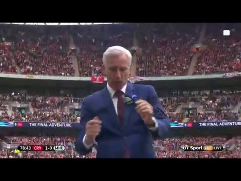 Alan Pardew celebrations 1:0 Cystal Palace 21/05/2016