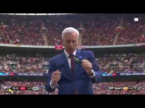 Alan Pardew celebrations 1:0 Cystal Palace 21/05/2016
