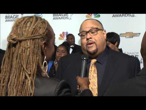 Tanya Young Williams Talks with Fred Hammond at 2013 NAACP Image Awards Red Carpet