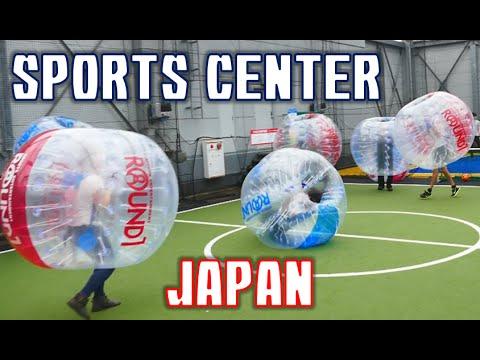 Crazy/Awesome games at Japanese sports center! 外国人グループでラウンドワンに行ってきた!