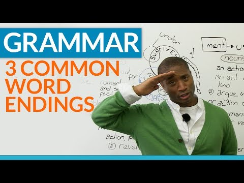 English Grammar – Word Endings – What are suffixes?