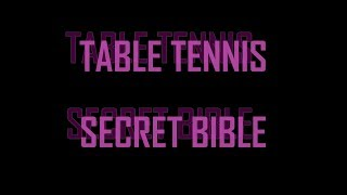 How to GET GOOD at table tennis --- TOMORROW TABLE TENNIS