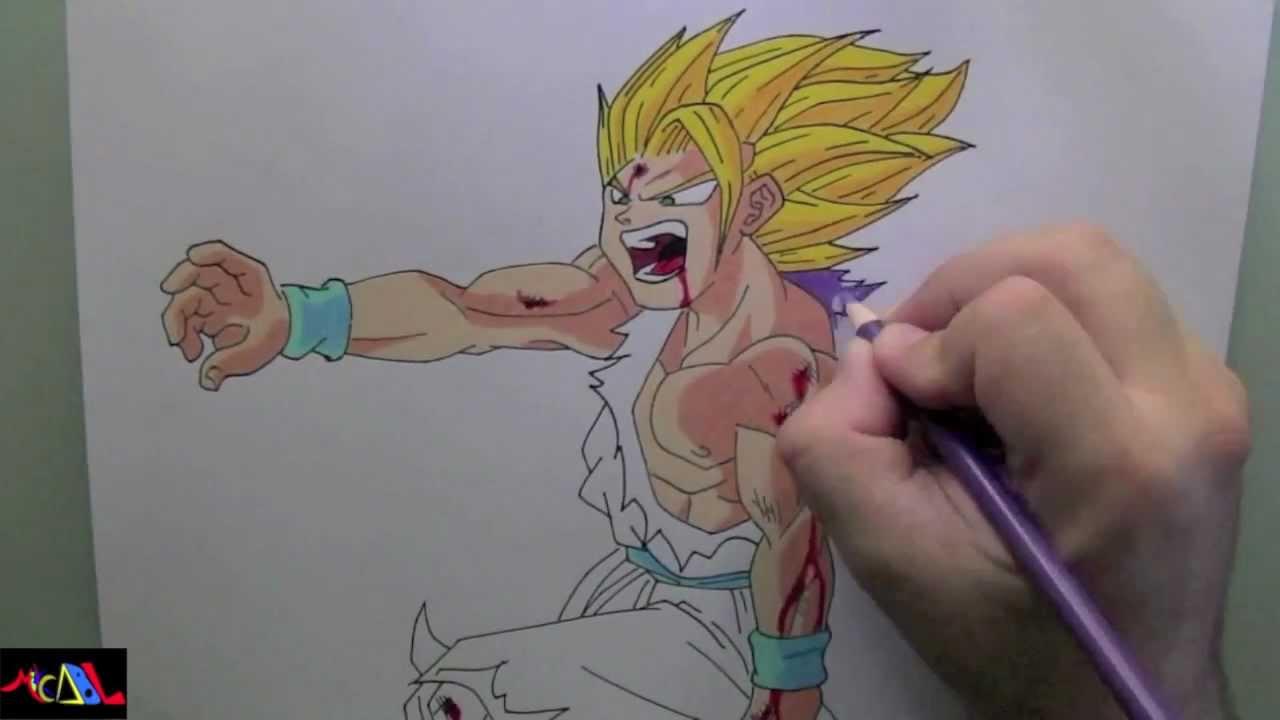 Dibujando a: Gohan - YouTube