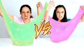 DESAFIO SLIME vs SLIME ★ Batalha de Tipos de Slime - Fluffy Slime, Glitter Slime, Butter Slime