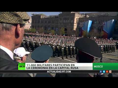 La Plaza Roja de Moscú alfombra el Desfile de la Gran Victoria sobre el nazismo