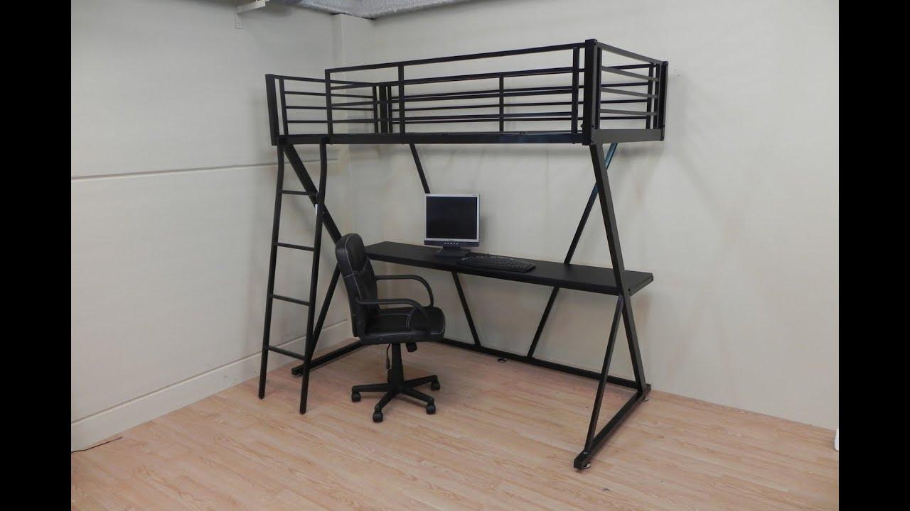 Litera con cama y escritorio inferior medida 90x190 - Camas con escritorio debajo precios ...