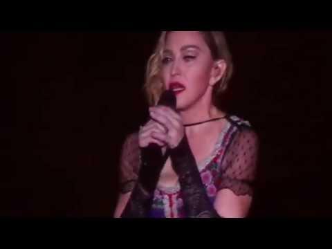El homenaje de Madonna  a las víctimas del atentado