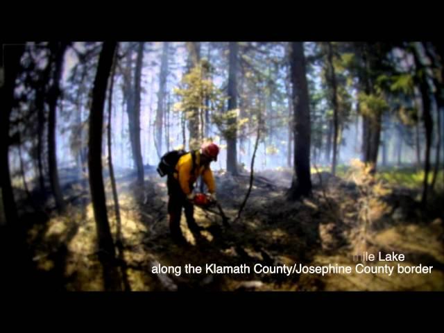 Launch Fire in Klamath County 7-30-2014