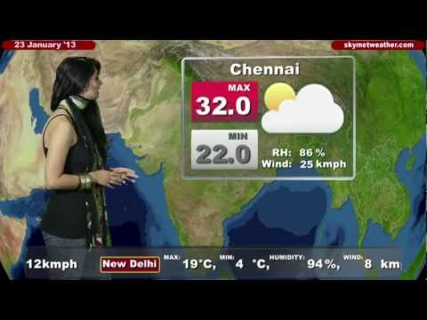 Skymet Weather Report - India January 23, 2013