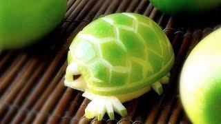 How To Make an Edible Apple Turtles – Fruit Carving Garnish – Party Garnishing – Food Decoration