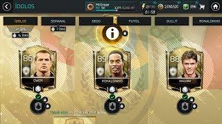 FIFA MOBILE - COMO PEGAR OS 3 ICONS/RONALDINHO/MALDINI/OWEN