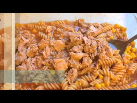 Кулинарный рецепт Второе блюдо Макароны с тунцом запеченые  в духовке рыбные консервы