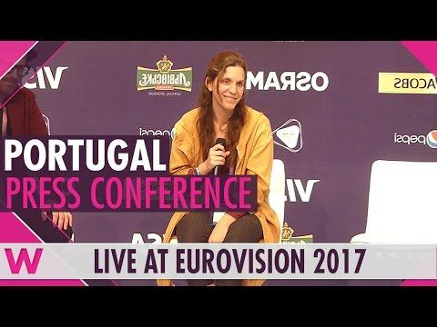 "Portugal Press Conference — Luisa Sobral (Salvador's sister) ""Amar pelos dois"" Eurovision 2017"