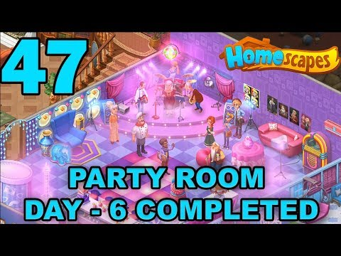HOMESCAPES STORY WALKTHROUGH - PARTY ROOM DAY 6 COMPLETED - GAMEPLAY - #47