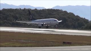 [Full HD] United Airlines B737 Star Alliance Landing at Hiroshima Airport ユナイテッド航空 B737 スタアラ 広島空港 着陸