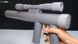 PVC Gun Homemade! How to Make Powerful Gun, Mounting Removing Easy from PVC Pipe