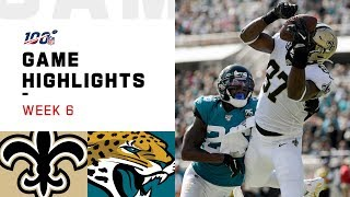 Saints vs. Jaguars Week 6 Highlights | NFL 2019