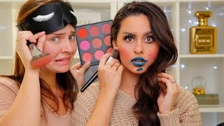 Blindfolded Makeup Tutorial with Chloe Morello
