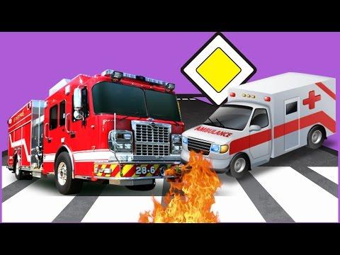 Мультики Машинки для Детей #Пожарная Машина #Скорая Помощь Машины Помощники Авария Мультфильмы 2017