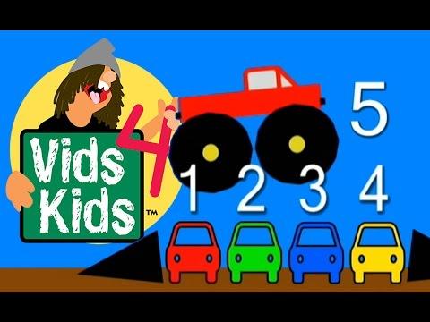 Lumea cifrelor - Numarati pana la 5 cu un Monster Truck