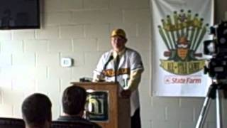 Normal CornBelters Introduce Field Manager Chad Parker (Oct 12, 2011)
